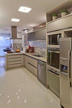 iluminação de cozinha planejada