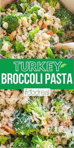 A 30 minute pasta meal with ground turkey and broccoli cooked in one pot. You will want to repeat this quick easy healthy and kid friendly weeknight dinner recipe again and again. Healthy Turkey Recipes, Healthy One Pot Meals, Ground Turkey Recipes, Healthy Breakfast Recipes, Clean Eating Recipes, Healthy Foods, Easy Recipes, Healthy Eating, Broccoli Pasta