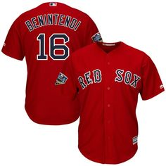 Men s Boston Red Sox Andrew Benintendi Majestic Scarlet 2018 World Series Cool  Base Player Jersey Andrew df3fdf7fd
