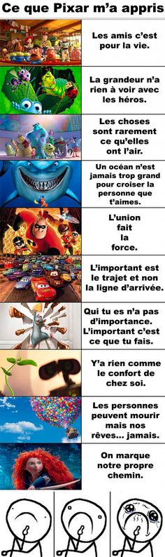 Ce que Pixar ma appris Québec Meme Disney Films, Disney And Dreamworks, Disney Pixar, Triste Disney, Life Quotes Disney, Funny Quotes About Life, Funny Life, Sad Quotes, Film D