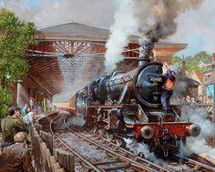 Fine Art Prints of Railway Scenes & Train Portraits - Pickering Station NYMR