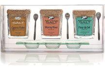 Our Finishing Salt Trio includes: Fleur de Sel de Guérande, Murray River Australian Flake Salt & Cyprus Flake Salt.