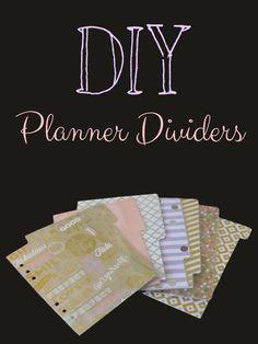 DIY Planner Dividers