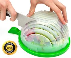 50% off this salad cutter bowl you can throw all your favorite ingredients into and chop them up for a perfect salad.