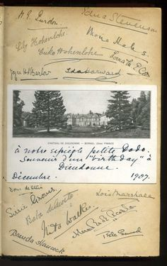 Fables de la Fontaine in a nice 1860 half-leather binding, this copy signed Mercedes de Acosta and 46 of her classmates at school in France, Chateau de Dieudonne, in 1907
