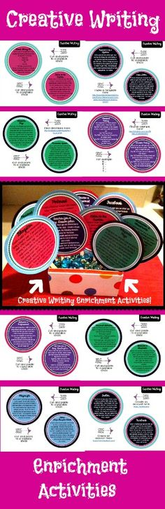 22 Creative Writing Enrichment Activities!  Great for extra credit, gifted students, bell ringers and so much more!