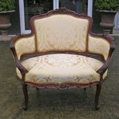 Antique and Vintage Furniture For Sale - French  Rococo Mahogany Canape or Settee