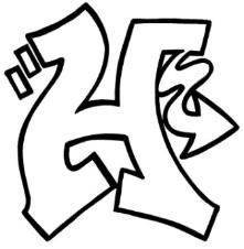art gallery graffiti alphabet letter k sketches design stencils Graffiti Alphabet how to draw a wildstyle h free lesson and handout easy graffiti