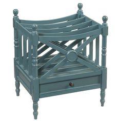 Amelia Magazine Rack, Teal | Wrightwood Furniture