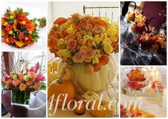 Fall Rose Wedding Flowers