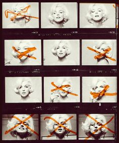 Marilyn Monroe has a say in which photo proofs she likes and dislikes!