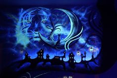 Mesmerizing Bedroom Mural Beams with New Life Once the Lights are Out - My Modern Met