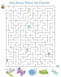 free printable activity spring maze for kids - Printable Activity