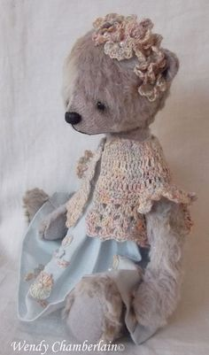 "Eloise - one of my handful of bears. A hand crafted artist design standing 6"" tall."