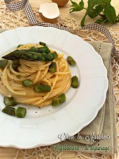 Carbonara agli asparagi, ricetta vegetariana,  carbonara primaverile, carbonara vegetariana, come cucinare gli asparagi | Oltre le MarcheOltre le Marche