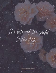 She believed she could, so she did. Beautiful design by Jess Levitz.