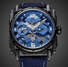 ADN Spirit Blue DLC This realization was inspiring by a customer request Watches For Men, Fine Watches, Luxury Watches, Men Watch, Men's Jewelry, Clocks, Bespoke, Workshop, Blue