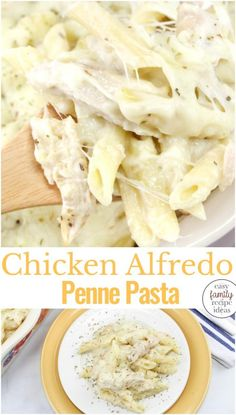 This Chicken Alfredo Penne Pasta is Amazing!This Chicken Alfredo Penne Pasta is Amazing! Add Easy Chicken Alfredo Casserole to your next meal plan and keep your family happy with this Easy Chicken Alfredo Bake, Chicken Penne Alfredo, Chicken Alfredo Casserole, Pasta Casserole, Spinach Alfredo, Vegan Alfredo, Pasta Bake, Penne Pasta Recipes, Banana Split Dessert, Pizza