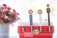 For quality micro-brew beer lovers - tap a cooler and serve yummy beers at the cocktail hour... from a rustic wedding at the Tower Hill Farm in Chilmark on Martha's Vineyard, MA.          Photography by http://www.dreamlovephotography.com