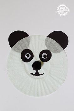 Panda Bear Cupcake Liner Craft