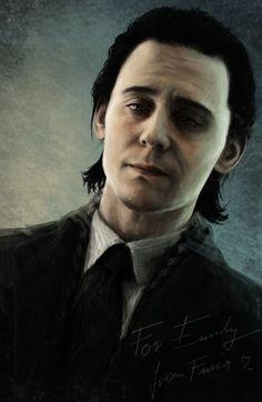 "Tom Hiddleston ""Loki"" Fan art From http://black-m.deviantart.com/art/I-m-so-sorry-318861134"