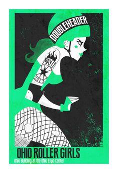 Ohio Roller Girls Poster on Behance