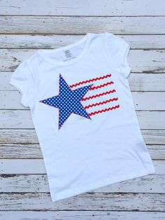 Stars and Stripes Applique Template | DIY Crush {Fourth of July t-shirt tutorial}