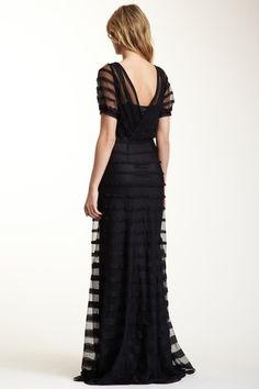 Dominique Pleated Panel Dress