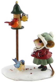 *FEATHERED FRIENDS ~ made of clay + hand painted