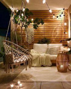 Bohemian Living, Bohemian Patio, Bohemian House, Bohemian Decor, Apartment Balcony Decorating, Porch Decorating, Decorating Ideas, Decor Ideas, Apartment Balconies