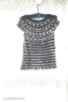Free crochet pattern. Toddler dress.