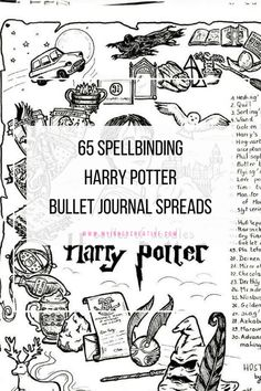 Are you a potter head? Well now you have 65 reasons to put the characters in your bullet journal. 65 Harry potter inspired bujo spreads movies bullet journal Part 65 Spellbinding Harry Potter spreads! Bullet Journal Monthly Spread, Bullet Journal Mood, Bullet Journal Ideas Pages, Bullet Journal Layout, Journal Pages, Bullet Journals, Journal Notebook, Harry Potter Journal, Harry Potter Planner