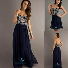 long navy bridesmaids dresses | ... Navy Long/Short Party Prom Gowns Formal Evening Bridesmaid Dresses