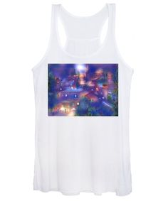 Moonlight Over Roussillon Women's Tank Top featuring the painting Moonlight over Roussillon Provence by Sabina Von Arx Charcoal Color, Creative Colour, Provence, Moonlight, Fine Art America, Tank Man, Wall Art, Tank Tops