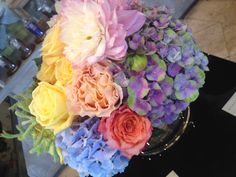 A colorful end of summer bouquet from Avant Garden - cheers to the end of summer 2012! #Design #decor #flowers #bouquet #Entertaining #laborday #weekend