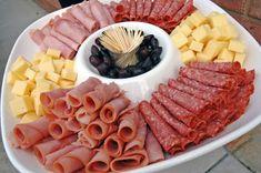 más y más manualidades: Como preparar una charola de jamón y queso para fiestas o cenas