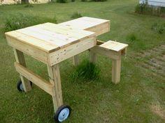 A custom-made twins seat shooting bench I built