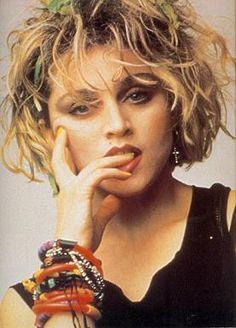 Madonna 1983 Helmut Werb.loved this haircut.