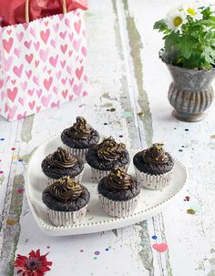 Chocolate Cupcakes with Avocado Chocolate Frosting | The Teff Company