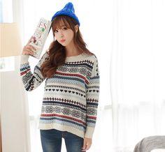 2fb - Patterned Knit Sweater #patterned #knitsweater #sweater #patternedsweater