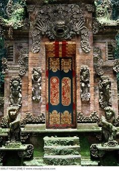Gate at Monkey Forest Temple in Ubud, Bali, Indonesia