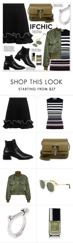 """""""Ifchic Summer Sale"""" by spenderellastyle ❤ liked on Polyvore featuring Boutique Moschino, Preen, TIBI, Carven, Nili Lotan, Karen Walker, Joomi Lim, Chanel, summersale and ifchic"""