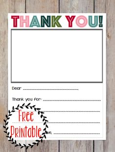free printable christmas thank you note for kids