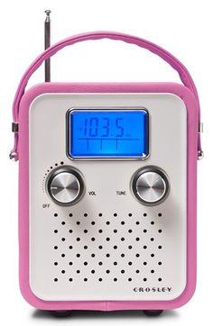 $40.00 Radio, Alarm Clock, MP3 compatible, headphone jack. AC adaptor or 5 AA batteries. Crosley Radio 'Songbird' Radio available at #Nordstrom