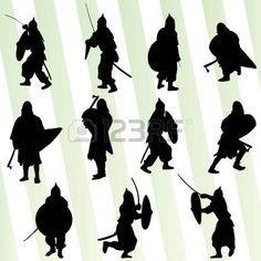 Image result for warrior silhouette