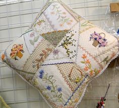 Embroidery Patchwork Pillow