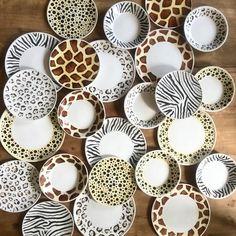 Animal print is back to stay! ✨✨ i so enjoyed painting these! #handmade #craft #decor #handmadeloves #craftsposure #ceramic #pottery #design #tableware #craftsposure  via ✨ @padgram ✨(http://dl.padgram.com)