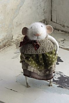 Little mouse felted wool by mousestories on Etsy