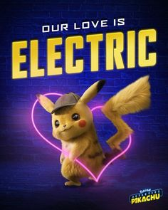 Pokémon love is electric. The movie of Pokemon Detective Pikachu picture for background. Pikachu Pikachu, Pokemon Go, Pikachu Kunst, Pikachu Memes, Pokemon Fusion, Pokemon Cards, Detective, Gotta Catch Them All, Be With You Movie
