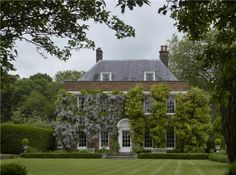 Michelmersh Court, Hampshire, England. Built in the late 18th century. It was the home of the broadcaster David Frost and was recently for sale.